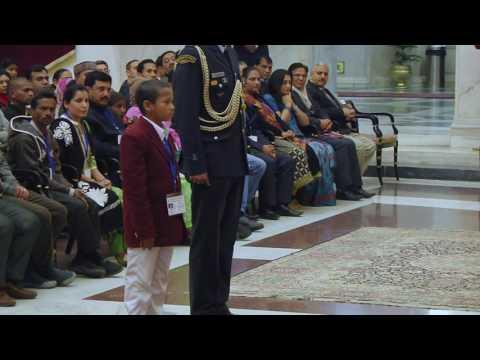 President meets Bravery Award Winning Children's - 21-01-17