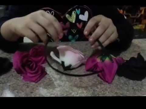 Como hacer una diadema con flores para disfraz de c youtube - Como hacer diademas ...