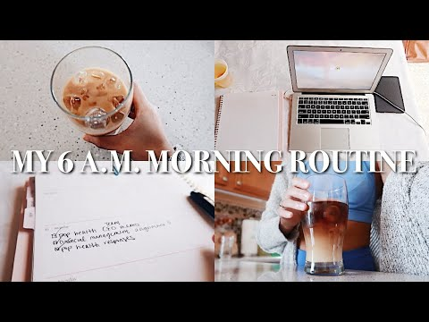 A REAL 6 A.M. MORNING ROUTINE(in Quarantine Lol) | Productive, Work From Home, Fitness & Reading!