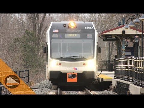 Three RiverLINE Trains at Bordentown, NJ