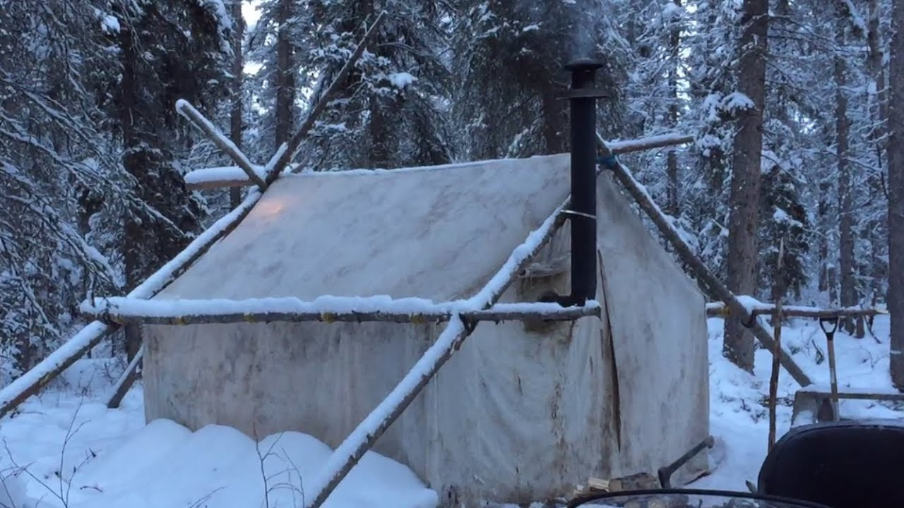 & Canvas Tent with Wood Stove- Are you ready? - YouTube
