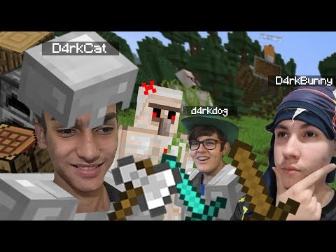 IRON GOLEM PISTOLASSO! | Minecraft: D4RKS - Part. 2 (Ft. Gabriel Rinaldi E Vinícius Colucci)