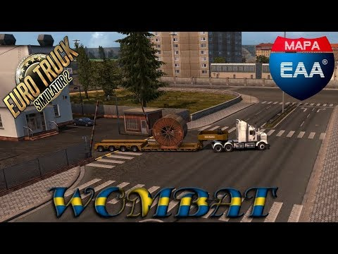 ETS2 - EAA - Western Star 4800 hauling 34t industrial cable reel from Eunapolis to Vitoria 500km