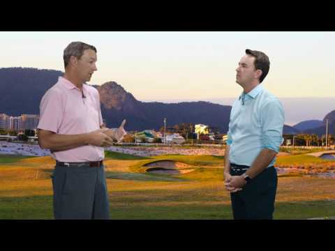 Gil Hanse explains Rio course bunkering to Geoff Shackelford