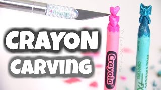 CRAYON CARVING ART - DIY Mini Sculptures with Crayons - How To | SoCraftastic