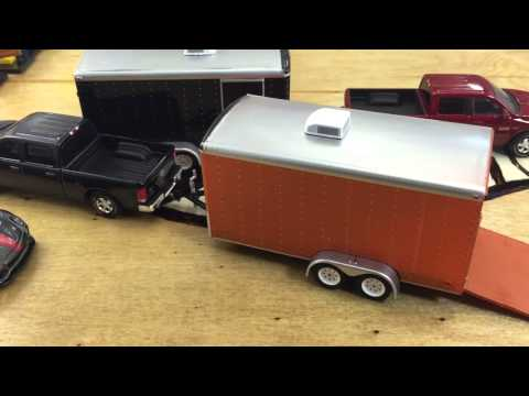 Greenlight Hitch and Tow Series 2 Dodge Ram and Car Hauler Review!
