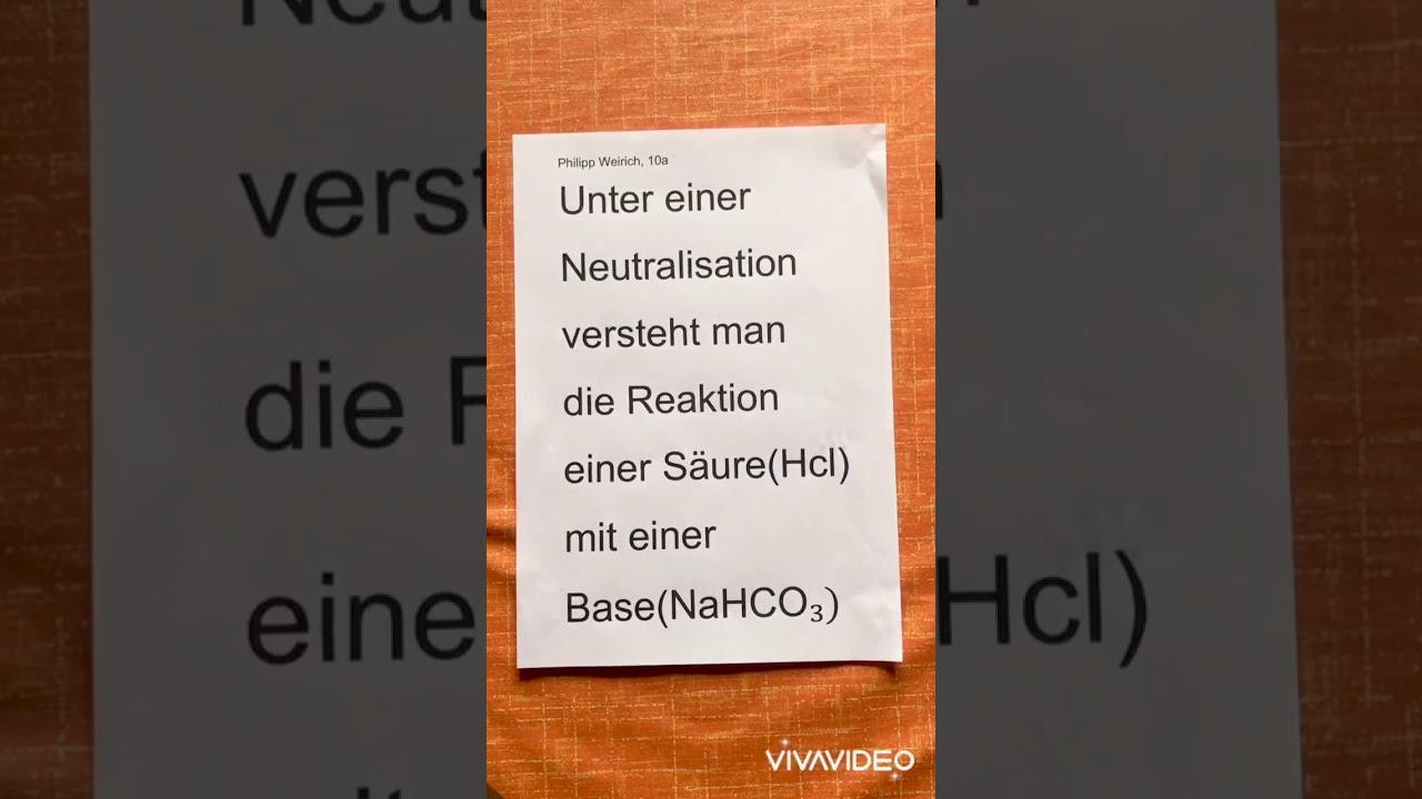 Neutralisation Im Alltag - YouTube
