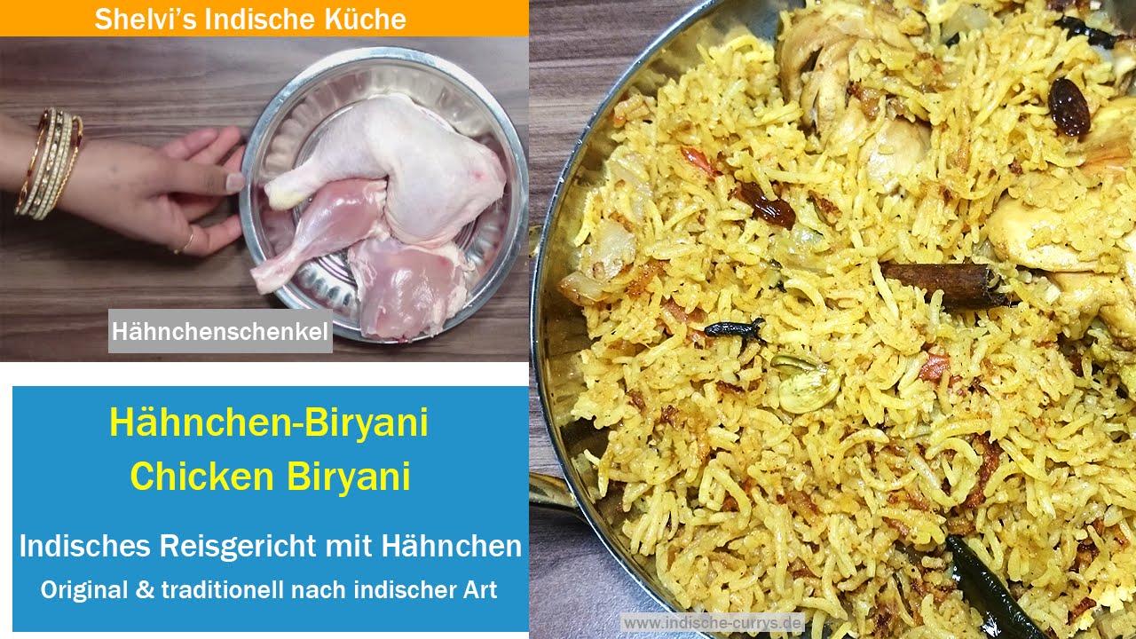 Hähnchen Biryani Reisgericht - Chicken Biryani Rezept Schritt für ...