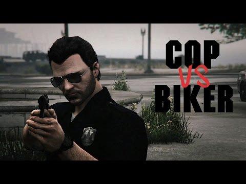 Cop vs Biker - GTA V Rockstar Editor