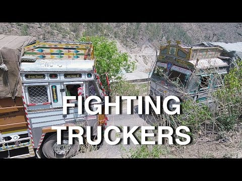 Indian Truck Drivers Fighting in the...