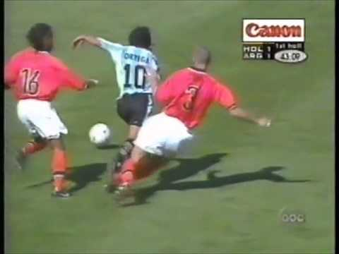 Ariel Ortega # 10 vs Holanda Cuartos WC 1998. By AgustinComps