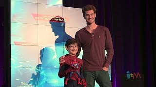 Andrew Garfield at Amazing Spider-Man 2 Toy Fair 2014 presentation from Disney Consumer Products