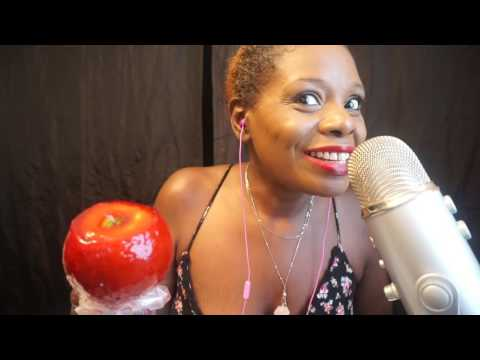 🍬🍎 Eating Candy Apple ASMR Soft Spoken👄 Chocolate Factory 🍫