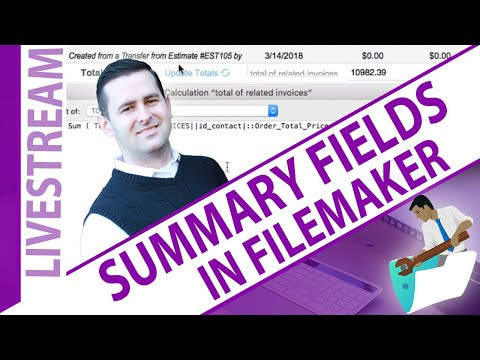 "FileMaker - Lean Design ""Summary"" Fields - Jonathan Ray"