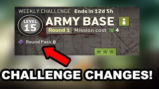 The walking Dead No Mans Land Update 2.7 Round Pass Challenge chang...
