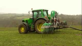 Six-Tractor Pumping - The Sharp End!  Dribble Bar in Action.