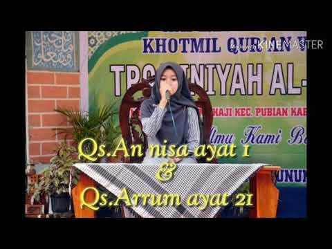 Qiroatul Qur'an untuk walimatul 'urs Qs.Annisa ayat 1 & Arrum ayat 21 by Alfy