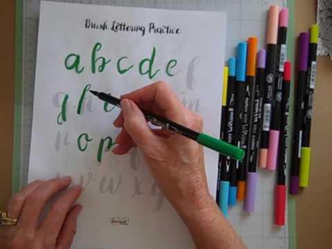 Brush lettering love youtube