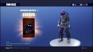 "I BUY THE NEW SKIN LEGENDARY OF FORTNITE ""RAVEN OR CUERVO"""