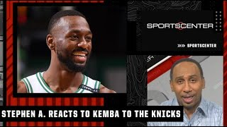Stephen A. reacts to Kemba Walker signing with the Knicks after a buyout from OKC