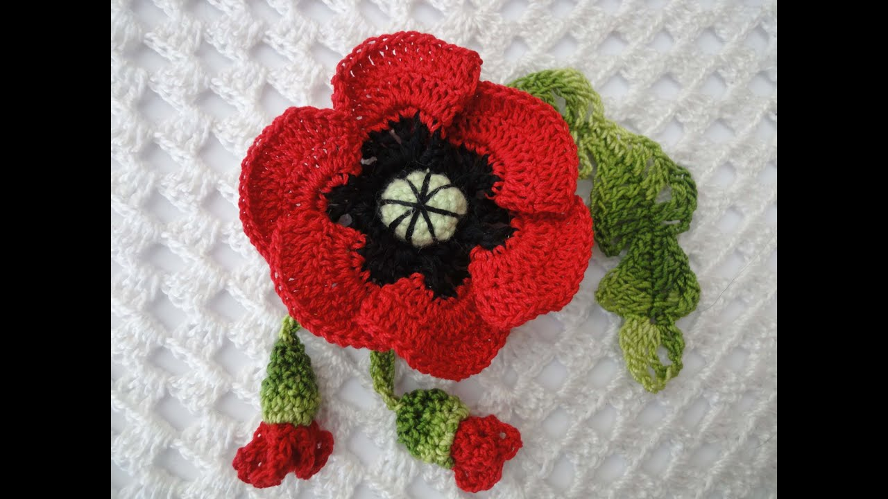 Цветы крючком 96