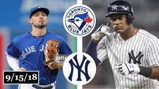 Toronto Blue Jays vs New York Yankees Highlights || September 15, 2018