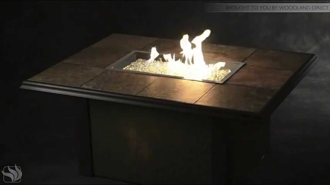 napa valley gas fire pit table