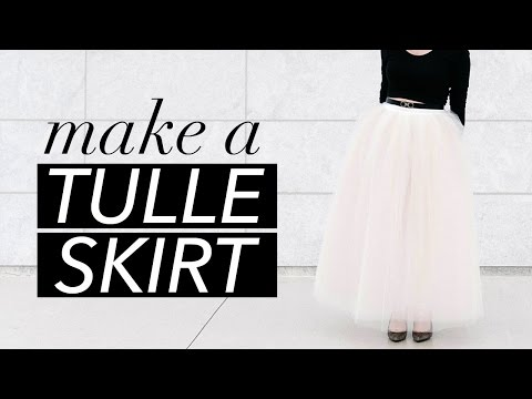 6cf1ab3c1b How to Make a Tulle Skirt   WITHWENDY - YouTube