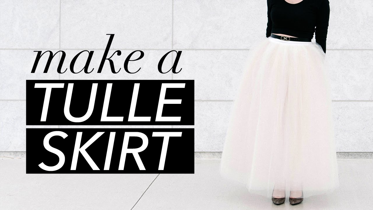 b097b63b2c How to Make a Tulle Skirt | WITHWENDY - YouTube