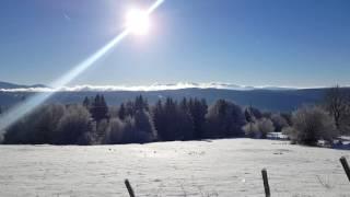 Vue depuis la montagne Le Larmont à Pontarlier dans le haut-doubs en France