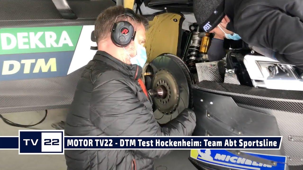 MOTOR TV22: DTM Test Hockenheim - Team Abt Sportsline mit Mike Rockenfeller