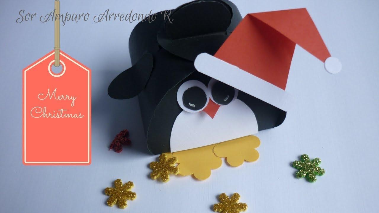 Manualidades para navidad como hacer y decorar cajita - Manualidades para decorar en navidad ...