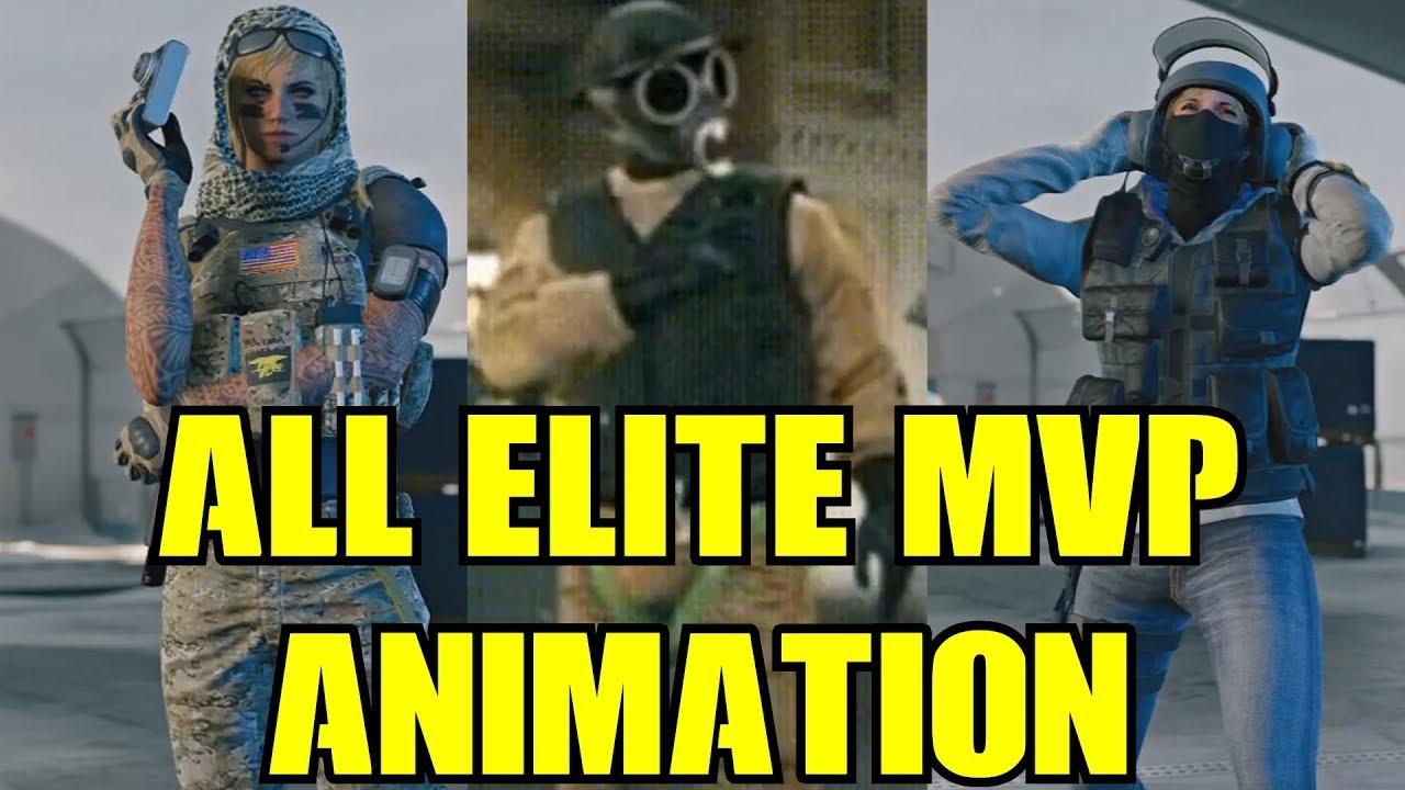 Rainbow Six Siege All Elite Skins MVP Animation & Leaked Thatcher IQ  Valkyrie R6 13 Operators Emote