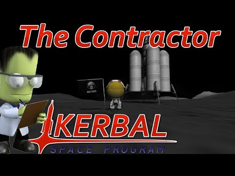 [12] Our First Mun Landing | The Contractor - Kerbal Space Program