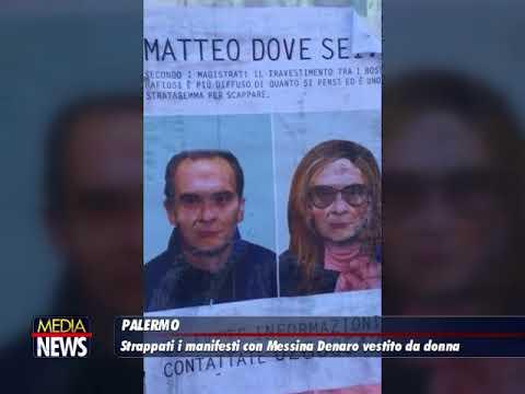 Palermo, strappati i manifesti con Matteo Messina Denaro vestito da donna