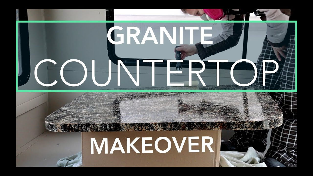 Painting Our Rv Countertops With Granite Countertop Paint