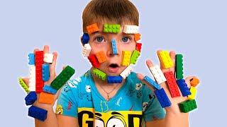 Pretend play LEGO HANDS - 동요와 아이 노래 | 어린이 교육