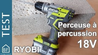 Test Outillage : Perceuse à percussion 18V Brushless de Ryobi R18PDBL