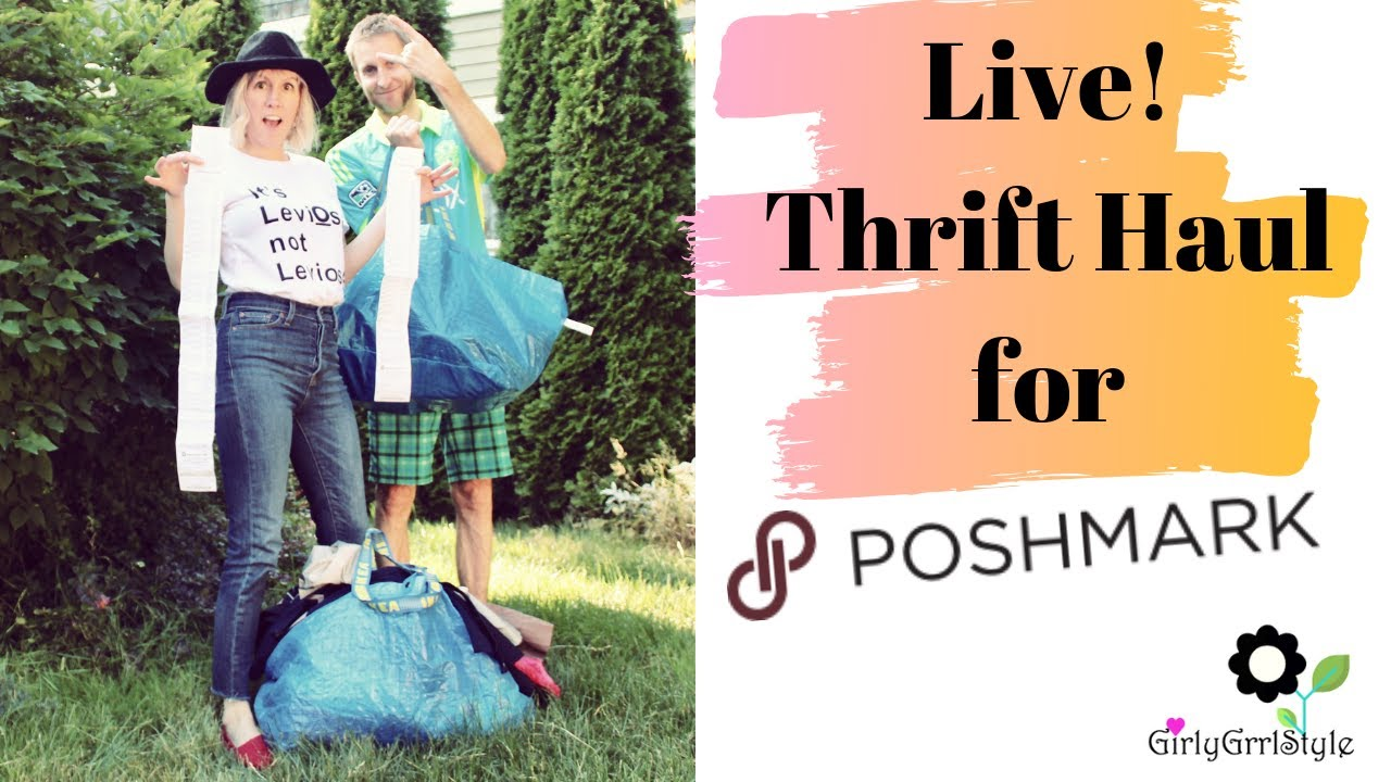 [VIDEO] - Live! Thrift haul to sell on Poshmark! Value  Village Sale! 1