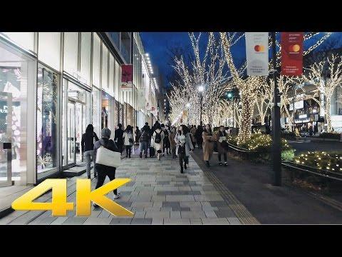 The Christmas lights in Omotesando Harajuku, Tokyo  - Long Take【東京・表参道イルミネーション】 4K