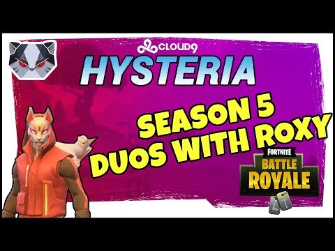 Hysteria | Fortnite Battle Royale -  Season 5 - Nerd Ramps - Duos with Roxy