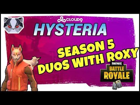 Hysteria  Fortnite Battle Royale   Season 5  Nerd Ramps  Duos with Roxy