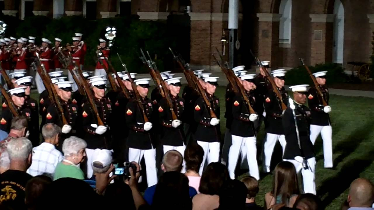 u s marines on parade pass in review 13 youtube