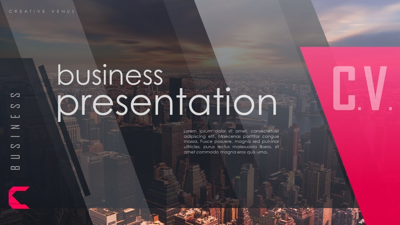 How To Design A Winning Cover Slide For Business Presentation In Microsoft Office 365 PowerPoint