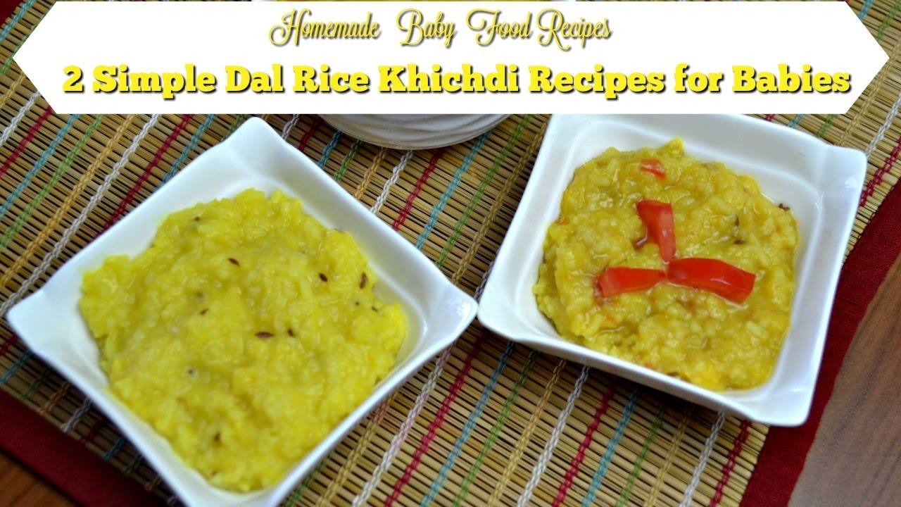 2 Simple Dal Rice Khichdi Recipes for Babies| Homemade ...