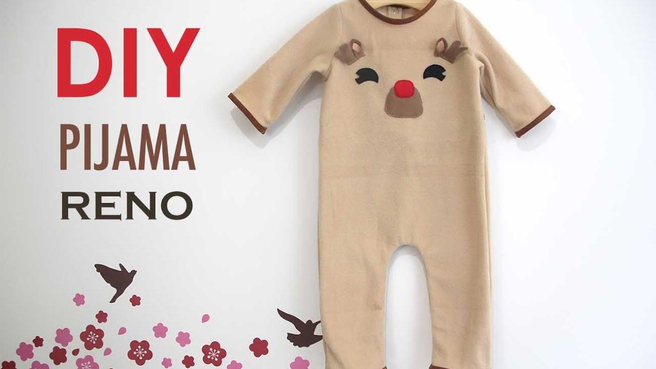 DIY Disfraz casero tipo pijama de RENO para bebé - YouTube