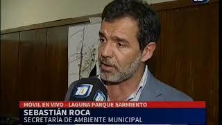 Sebastian Roca por la suciedad en el lago del Parque Sarmiento