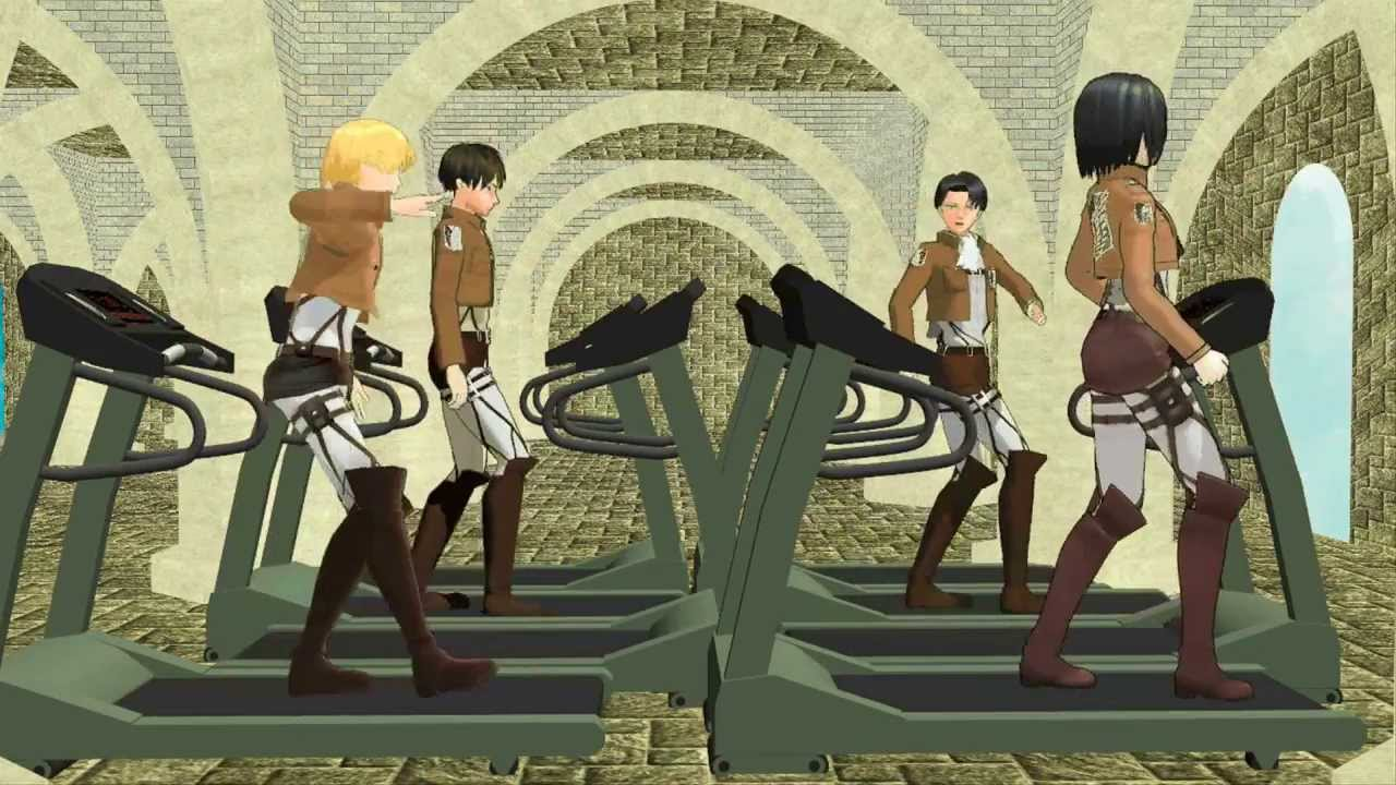 Snk Mmd What The Survey Corps Do On Their Days Off Youtube