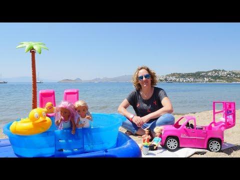 Spiel mit Barbie - Ein Tag am Meer - Spielzeugvideo für Kinder