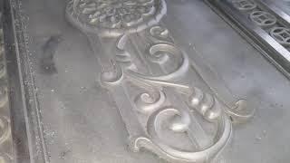 Công nghệ đúc cổng đồng, cổng nhôm đúc sơn giả đồng bằng công nghệ đúc hút chân không cát khô.